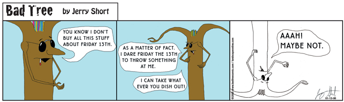 Bad Tree Comic - Friday the 13th