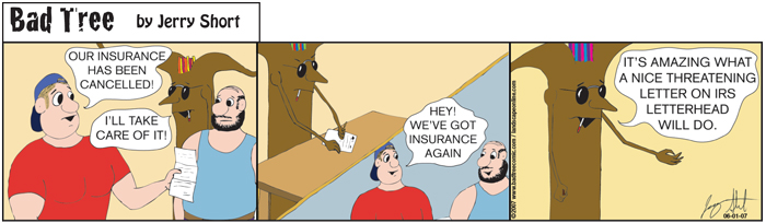 Bad Tree Comic - Insurance Problems?