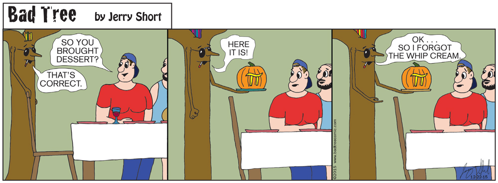 Bad Tree Comic - Pumpkin PI