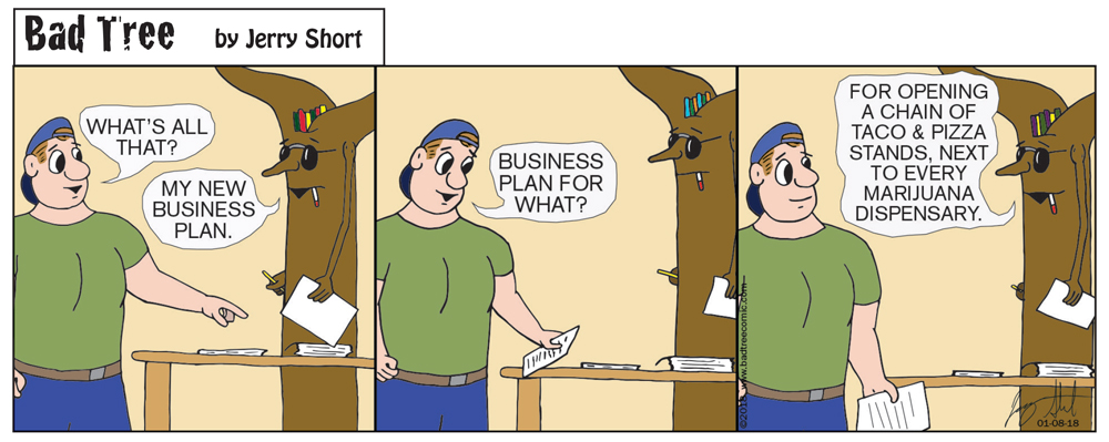 Bad Tree Comic - Business Plan
