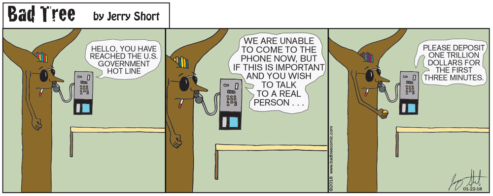 Bad Tree Comic - Hotline