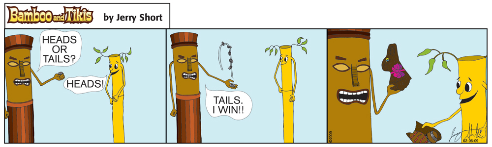 Bad Tree Comics - Bamboo & Tikis - Heads