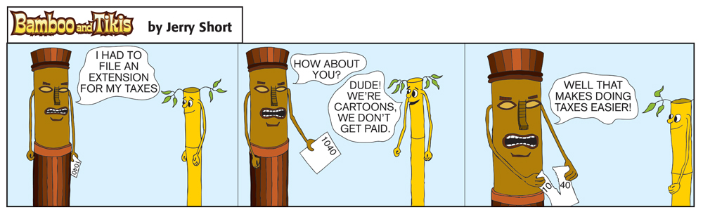 Bad Tree Comics - Bamboo & Tikis - Taxes