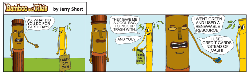 Bad Tree Comics - Bamboo & Tikis - Earth Day 2009