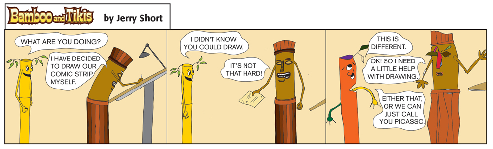 Bad Tree Comics - Bamboo & Tikis - Picasso